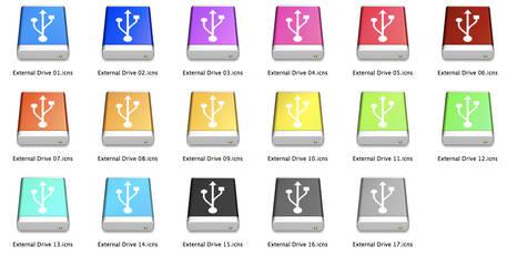 Mac USB Drives Multiple Colors