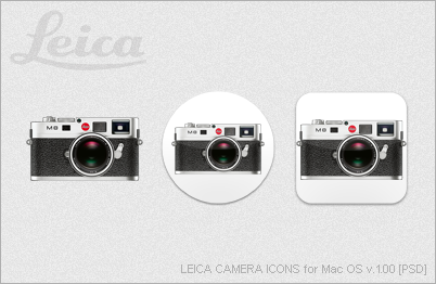 LEICA CAMERA ICONS for Mac OS v.1.00 [PSD] by EZBOI