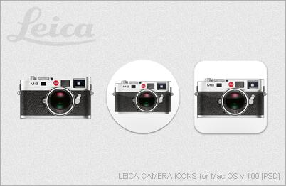 LEICA CAMERA ICONS for Mac OS v.1.00 [PSD] by EZBOI