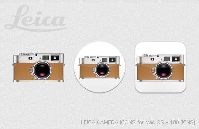 LEICA CAMERA ICONS for Mac OS v.1.00 [ICNS] by EZBOI