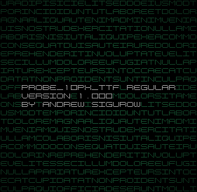 PROBE_10PX_TTF Regular Version 1.000 by EZBOI
