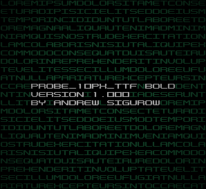PROBE_10PX_TTF Bold Version 1.000 by EZBOI