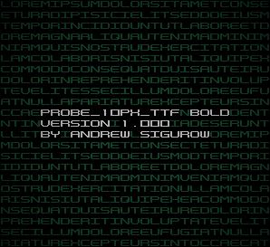 PROBE_10PX_TTF Bold Version 1.000 by EZBOI