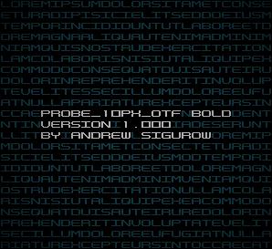 PROBE_10PX_OTF Bold Version 1.000 by EZBOI