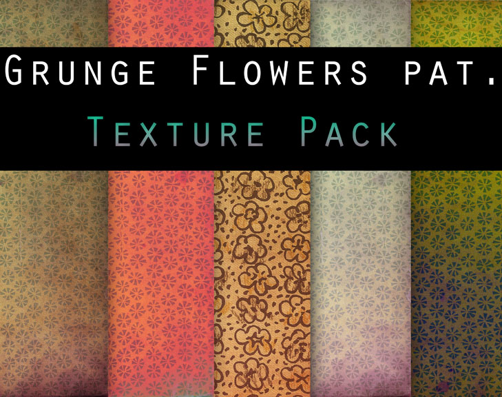 Grungy Flower Patterns