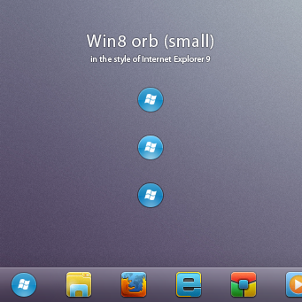 Win8 orb 'small' for Windows 7 by AlexandrePh