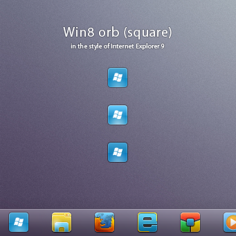Win8 orb 'square for Windows 7 by AlexandrePh