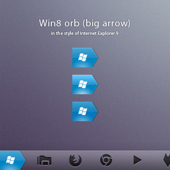 Win8 orb 'big arrow'