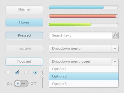 Bleu UI kit by ap-graphik