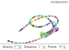 Spring Constraints Physics Toy by JohnJensen