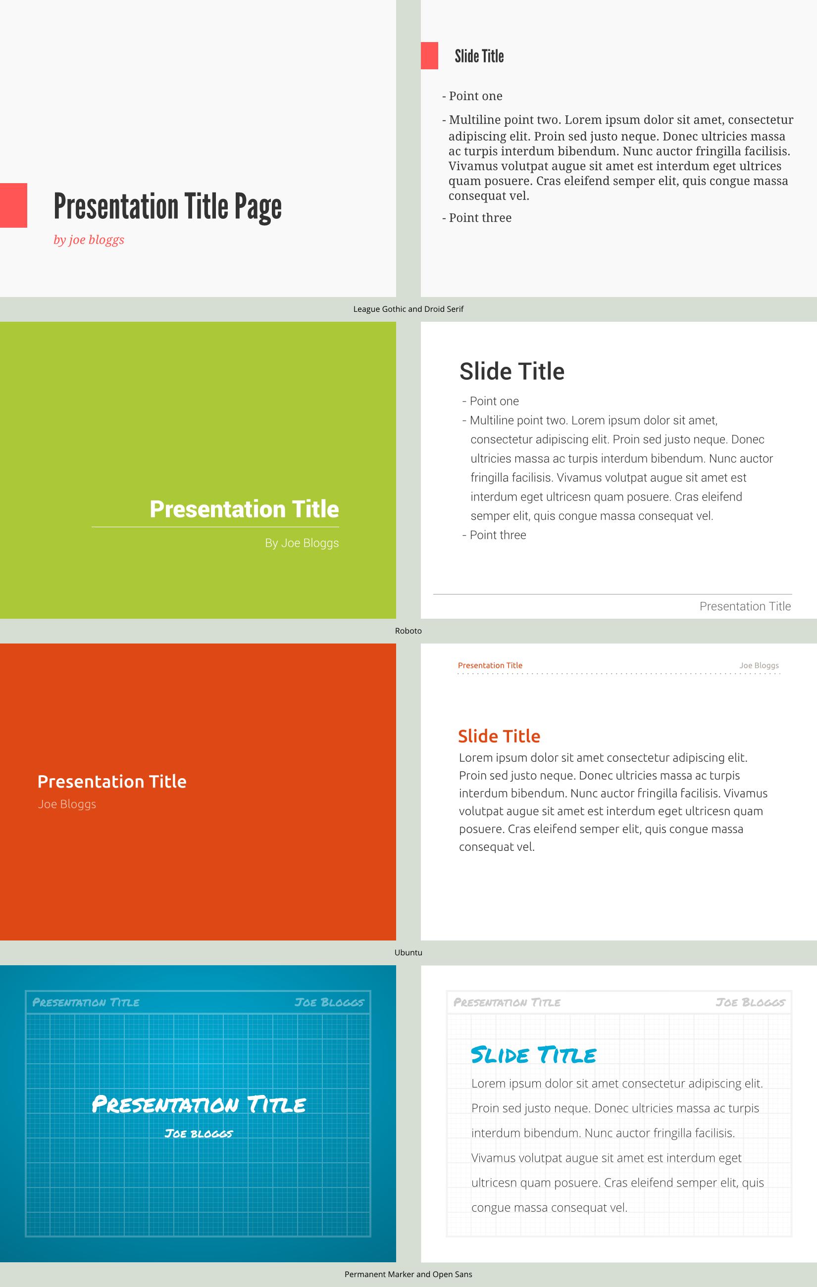 presentation template conceptsspiceofdesign on deviantart, Presentation templates