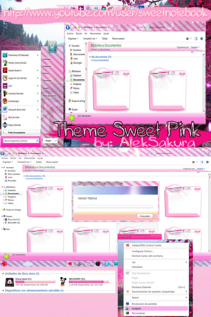 Sweet Pink theme windows 7