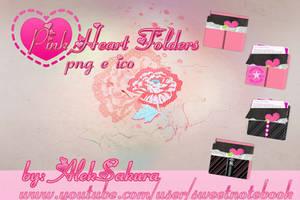 Pink Heart Folders By Aleksakura by AlekSakura