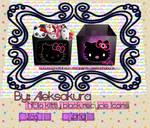 Recycle bin icon hello kitty black