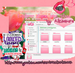 ExplorerFrame for 64 bits pink glass arrow by AlekSakura