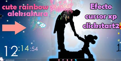 Efecto para cursor brillito rainbow