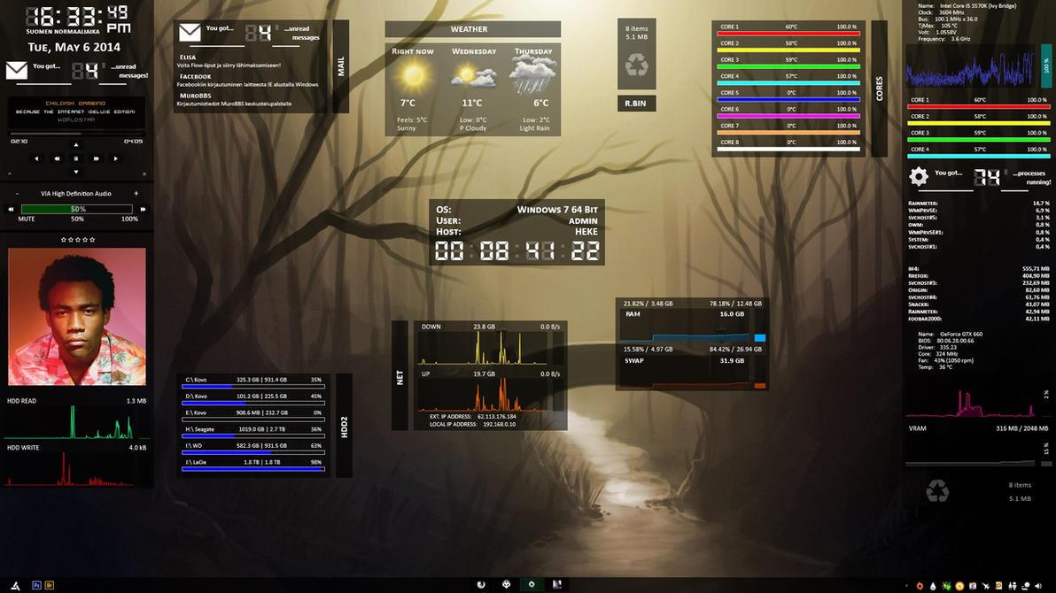 Dark Glass System v1.2 by hekee