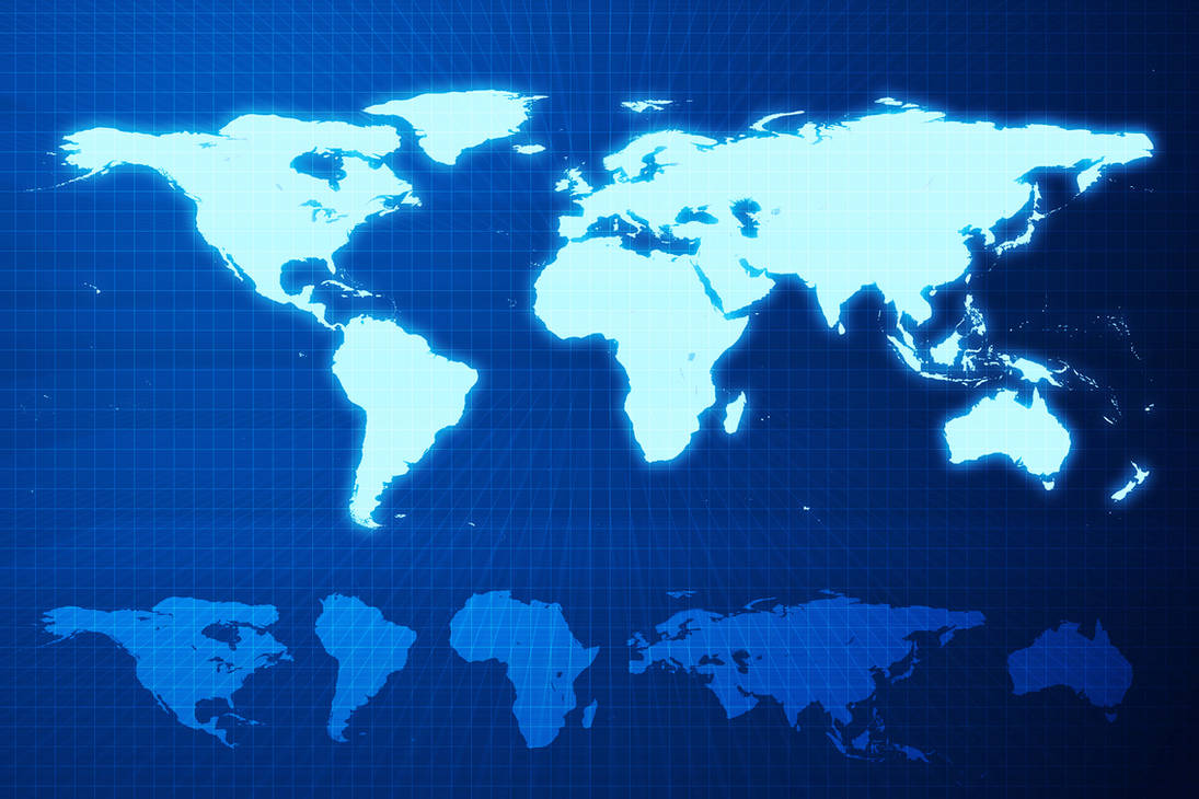 Digital World Map by hekee on DeviantArt on