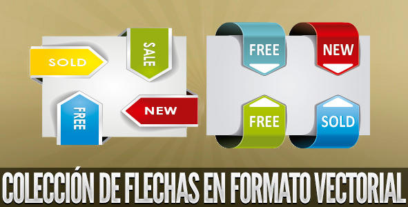 Flechas vectoriales 3D by Arcandres