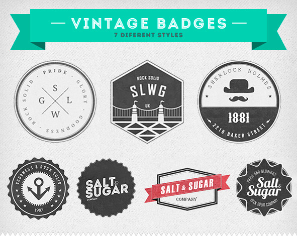 Insignias vintage by Arcandres