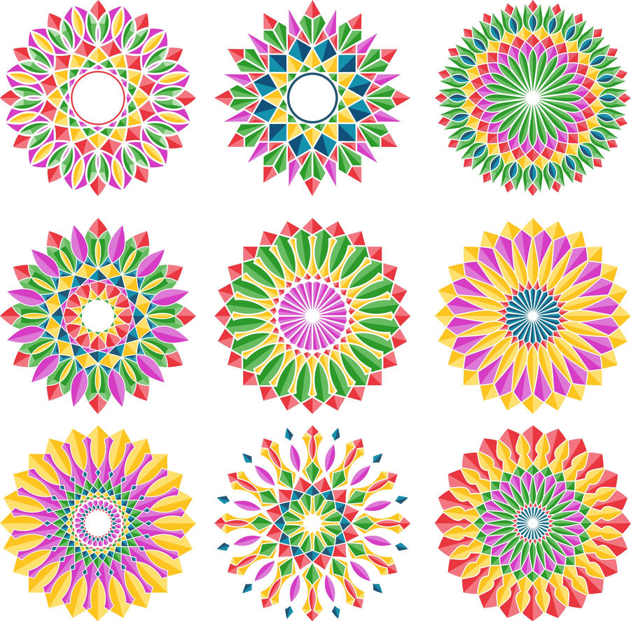 Colorful Flower Designs 1 by color32 on DeviantArt