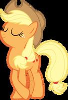 Posing Applejack by Silentmatten