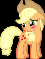 Blushing Applejack by Silentmatten