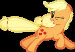 Running Applejack by Silentmatten