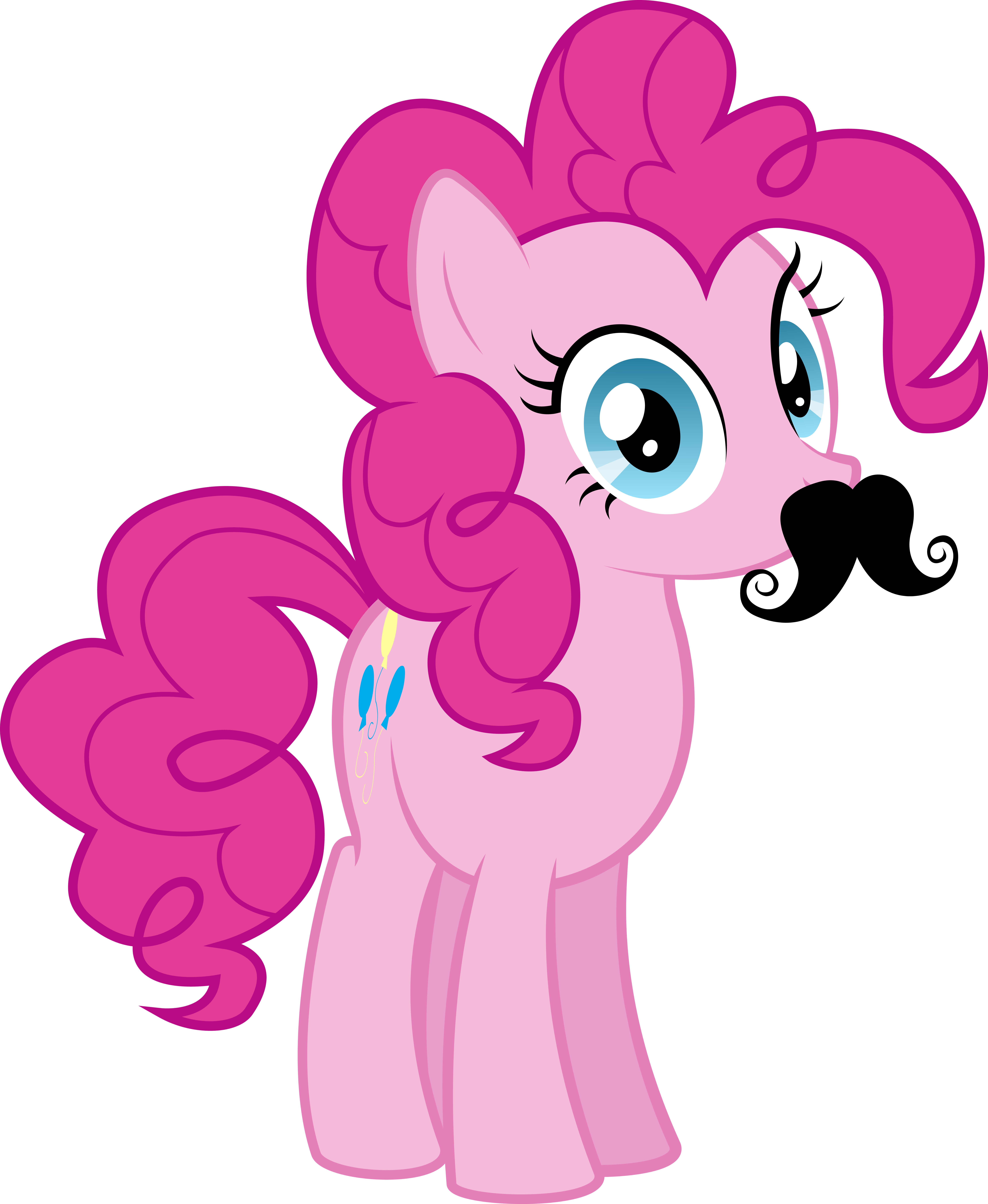 Moustache Pinkie Pie by Silentmatten