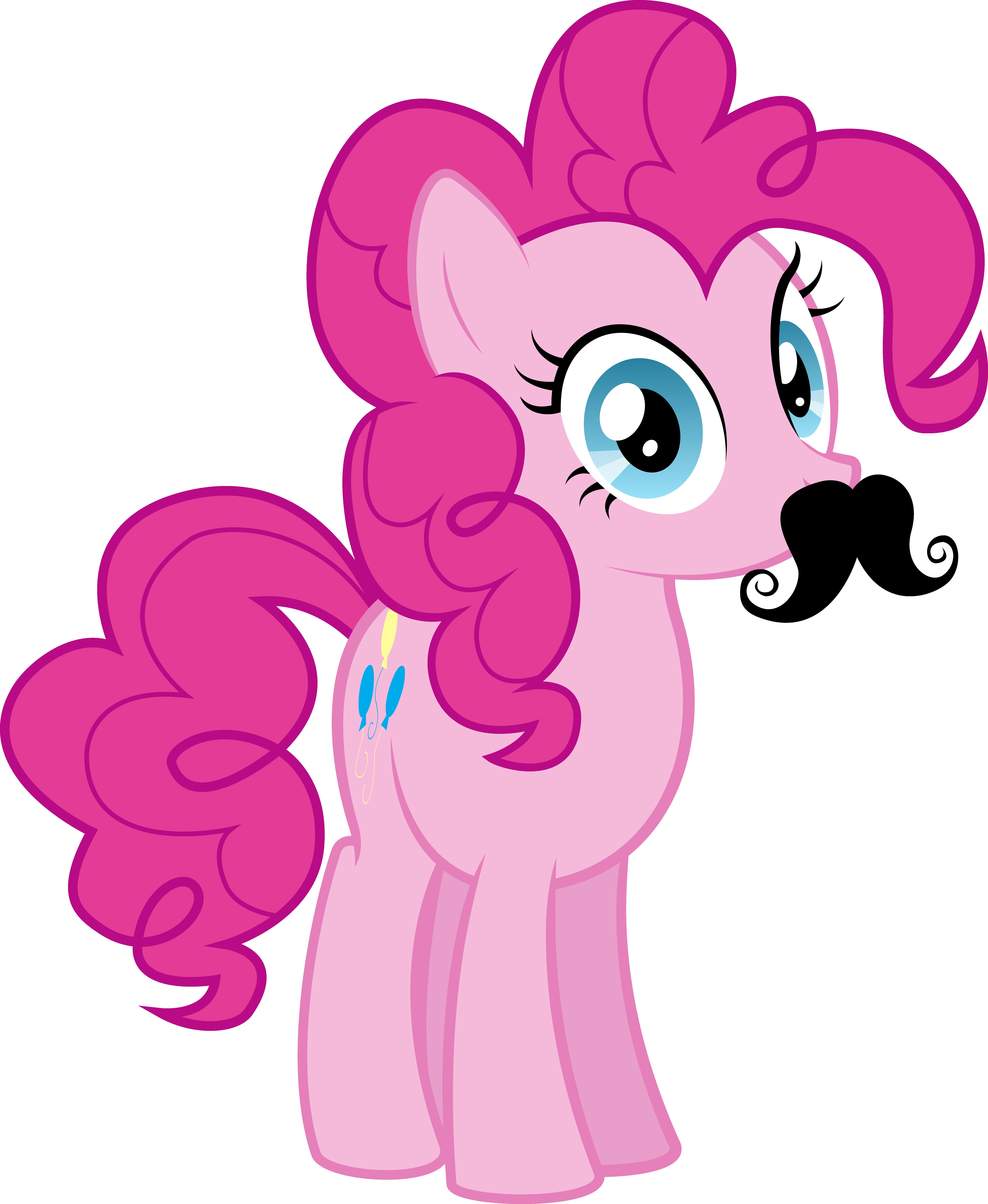 Moustache Pinkie Pie by Silentmatten