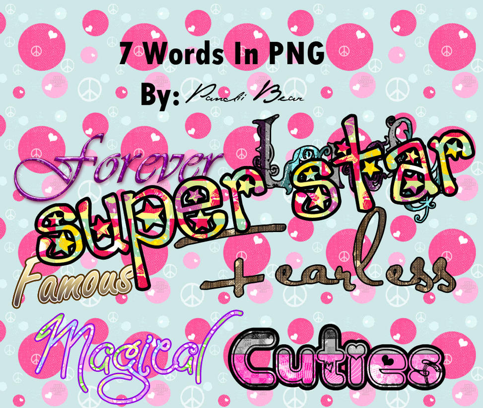 7 Words In PNG by PandiiBear