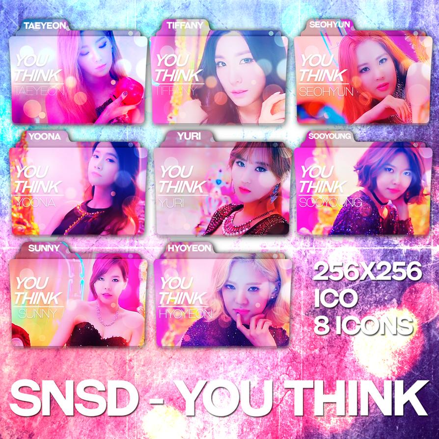 Snsd Girls Generation You Think Folder Icons By Taeyeonisbae On