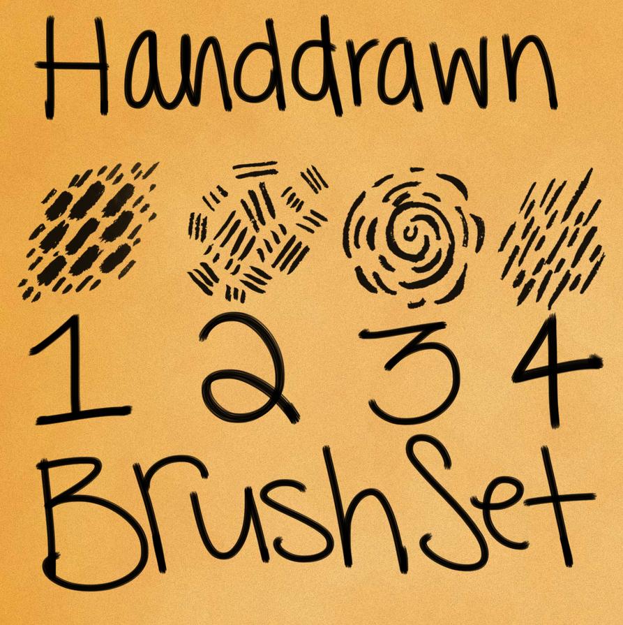 Adobe Photoshop Hand drawn Brush Presets by LeahStars8