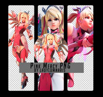 Pink Mercy Render by LadyLumnaris