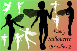 Faerie Silhouette Brushes 2 by joannastar-stock