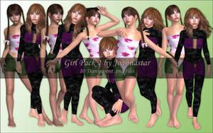 Girl Pack 1 by joannastar-stock