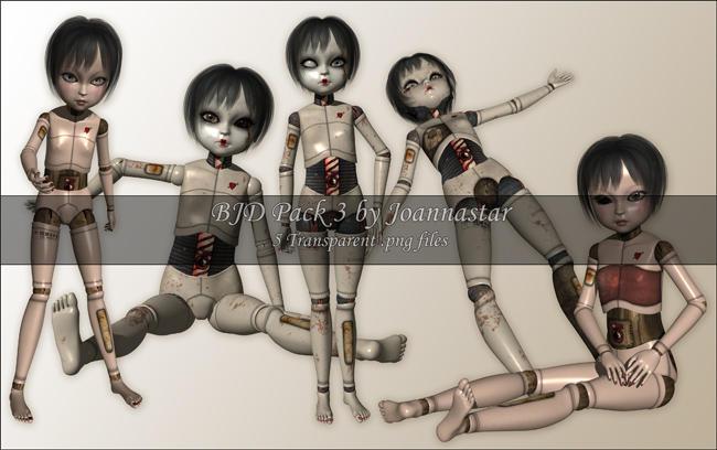 BJD Pack 3 - Disturbed by joannastar-stock