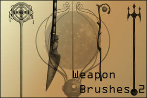 Weapon Brushes 2 by joannastar-stock