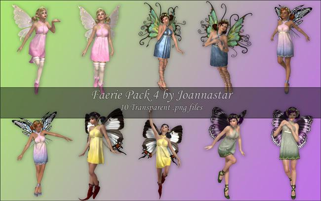 Faeries Pack 4 by joannastar-stock