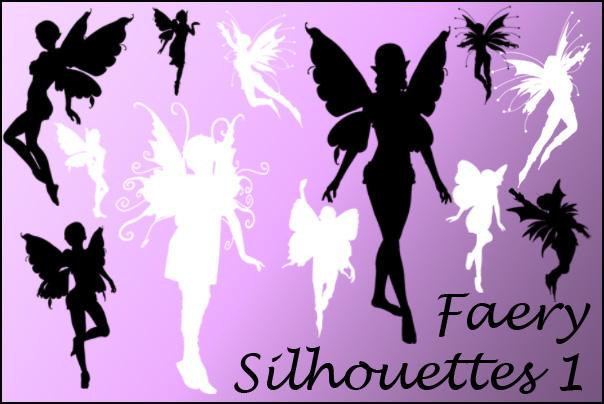 Faerie Silhouette Brushes 1 by joannastar-stock