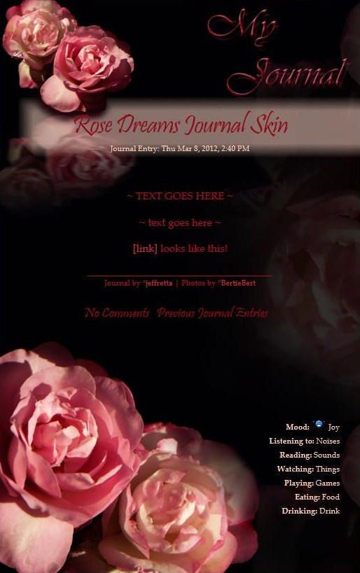 Rose Dreams Journal Skin by JeffrettaLyn