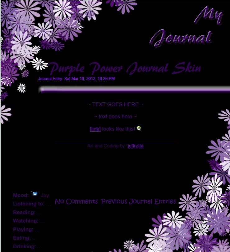 Purple Power Journal Skin by JeffrettaLyn