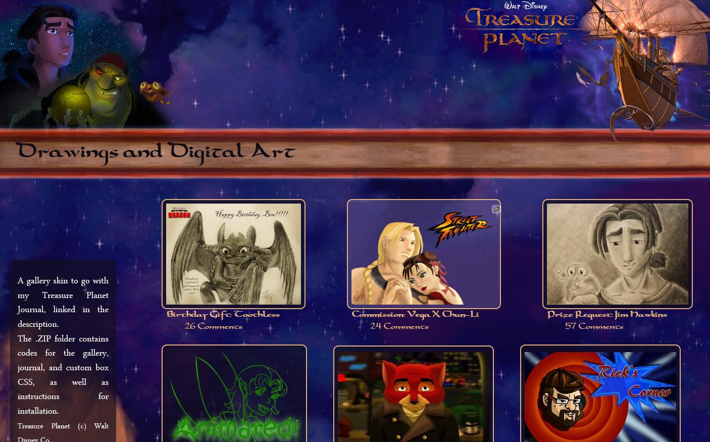 Treasure Planet Gallery CSS by JeffrettaLyn