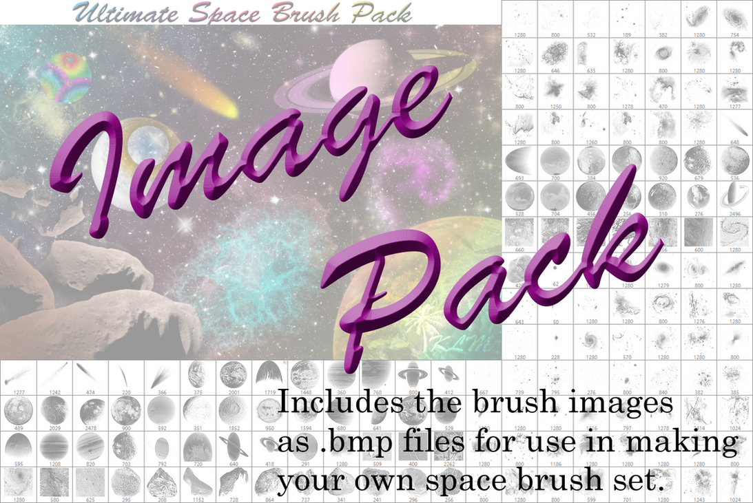 Space Brush Image Pack (.bmp) - Part 2 by JeffrettaLyn