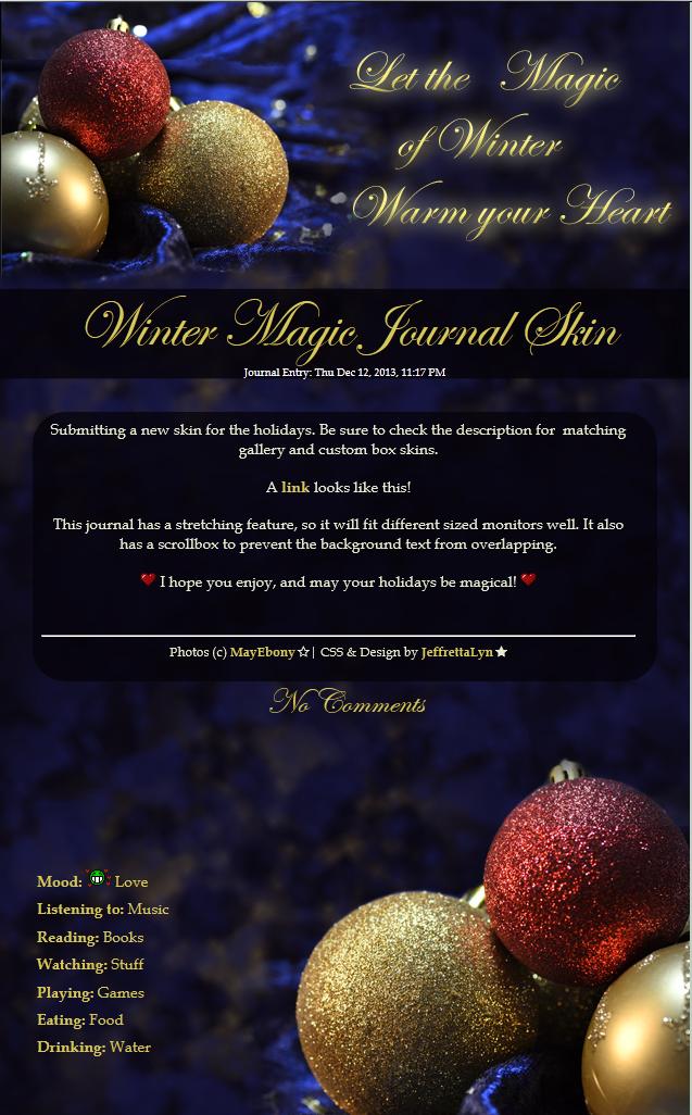 Winter Magic Journal Skin by JeffrettaLyn