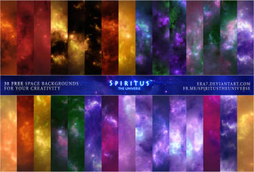 30 FREE SPACE BACKGROUNDS - PACK 30 by ERA7