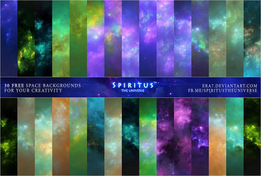 30 FREE SPACE BACKGROUNDS - PACK 31
