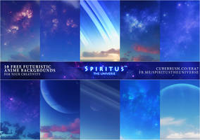 10 FREE FUTURISTIC ANIME BACKGROUNDS - PACK 39