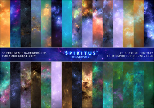 30 FREE SPACE BACKGROUNDS - PACK 33
