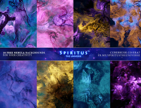 10 FREE Nebula Backgrounds - Pack 125